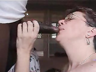 lovely granny gets  fucked by black friend