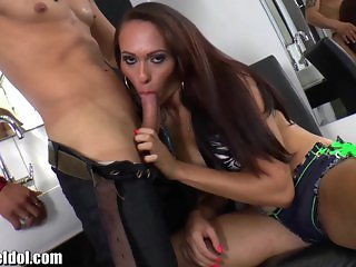 ShemaleIdol Giselly Araujo Ass Fucked by Guy