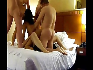 Wife With Their Lovers In Hotel (Homemade)