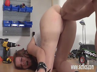 Teen double pussy fisting destruction