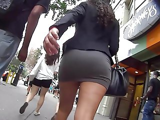 Hot Ass In Very Tight Skirt