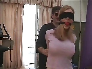 Ballgagged girl