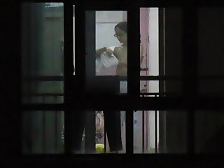 Window Voyeur: Chinese Neighbor Tits