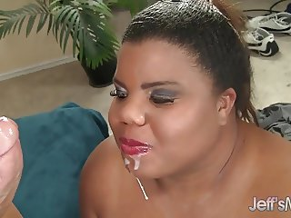 Ebony BBW Slut peaches gets her pussy filled with dick