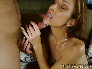 Super sexy skinny old spunker is a very hot fuck