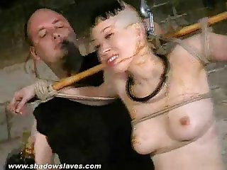 Kumimonsters asian bondage in feather and tar humiliation