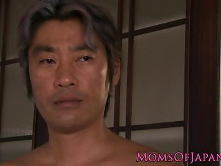 Japanese milf riding on cock before facial