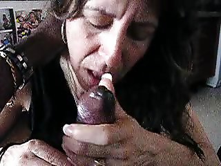 Mature Wife sucking her Black Lover