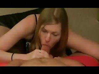 She looks you in the eyes as you cum in her mouth