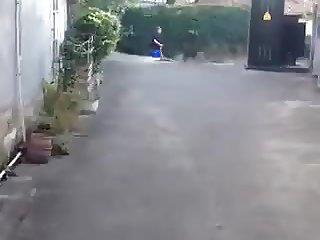 Performing his chinese slutty wife in public 4