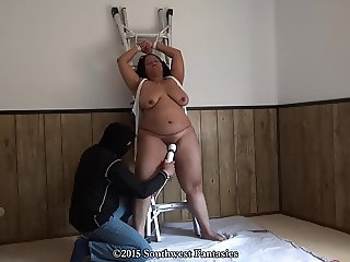Bound Orgasm: Tied to a Ladder