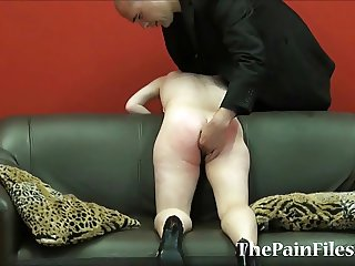 Kinky spanking and brutal blowjob of dominated slavesex sub