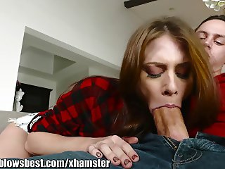 MommyBlowsBest Busted Giving a BJ