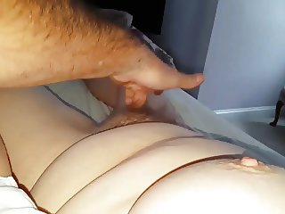 fingering her wet warm hairy pussy to orgasm