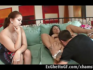 Bethany gets fucked on the couch