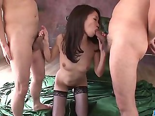 Mei Naomi loves more than one cock in her tig