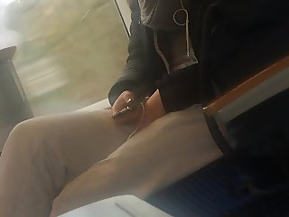 playing pussy at train