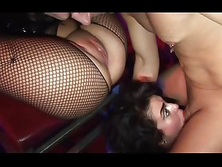 British slut Isabel Ice at a gloryhole and in a FFM