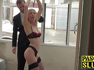 Hot blonde chick rides a big hard dick and gets a cumshot