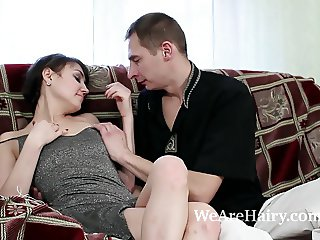 Milada and lover have sensual sex and photo time