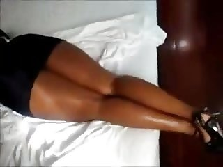 Big Booty Ebony - Ass Miniskirt