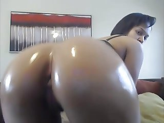ebony girl oiled ass