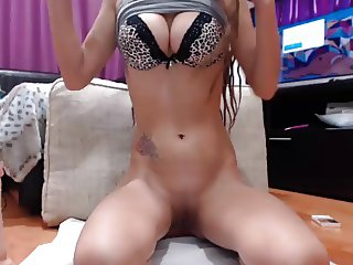 Young Woman With Perky Tits Makes Her Pussy Squirt