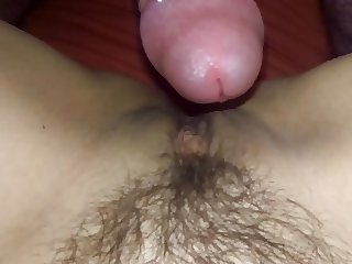 Fucking wife's hairy pussy