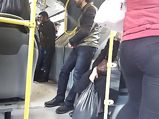 Turkish milf big ass in bus