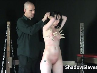 Faes breast whipping punishment and rough tit
