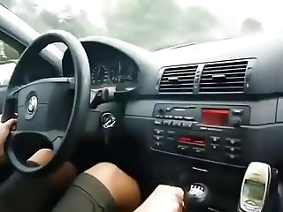 hot women smoking in car