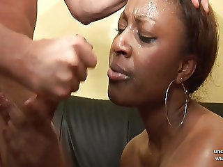 French black hard analized DP facialized in a 3way casting