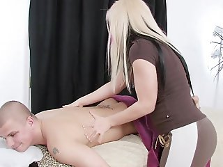 Hard fuck after massage