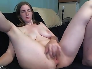 College Girl milking and fingering