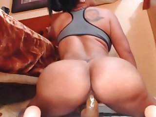 Thick Latina Dildo Riding