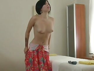 Short Haired Beauty - Strip & Massage Play