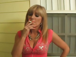 Mature Blonde Smoking a VS 120 So Fucking Sexy