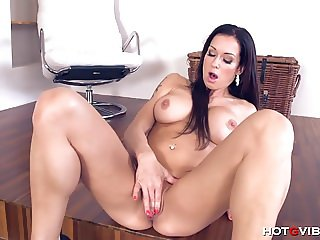 Crazy hot MILF Stacy Silver is so horny she fucks herself vi