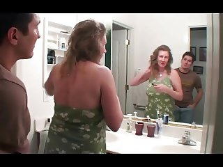 Granny seduced and get's a good fuck by younger Guy
