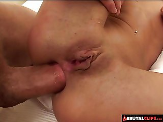 BrutalClips - Poor Slut Is Made to Lick Jizz off the Floor