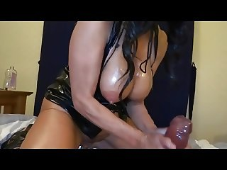 Mommy playing with large dildo x