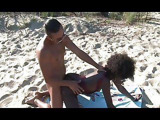 Exotic beauty loves sex on the beach