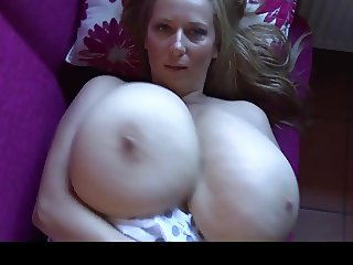 Massive Boobs on Blonde Hottie
