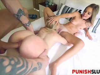 Holly Morgan and Chloe get tied up and fuck