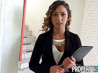 PropertySex - Beautiful agent fucks home owner for signature