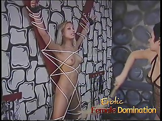 Perfect blonde girl experiences humiliation and pain like