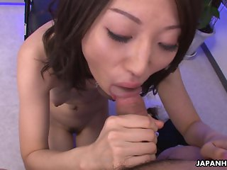 Ugly Asian babe with her small boobs titty fu