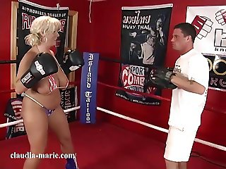 Huge Saggy Tits Claudia Marie VS MMA Fighter