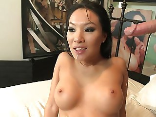 Asian honey with an amazing body rides dude reverse cowgirl