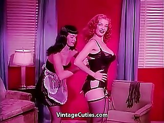 Bettie Page and Tempest Storm (1950s Vintage)